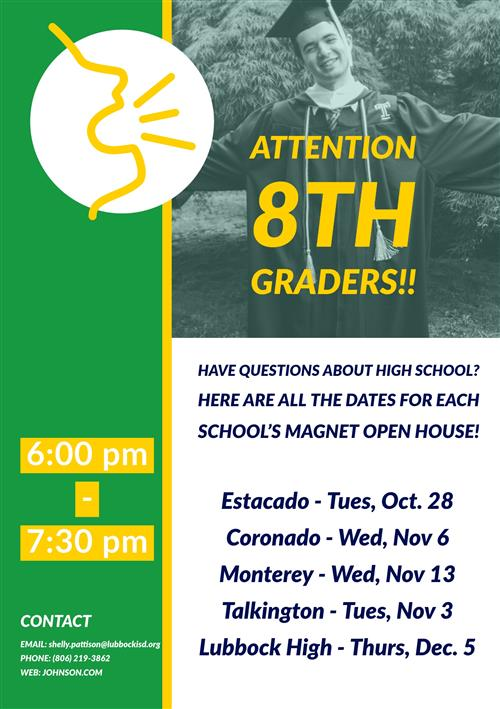 HS Magnet Open House Dates
