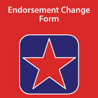 Endorsement Change Form
