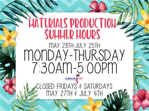 MPC Summer Hours