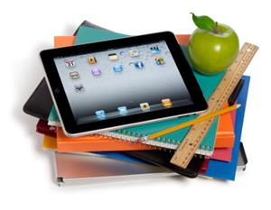 iPad on books picture
