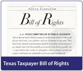 Texas Taxpayer Bill of Rights