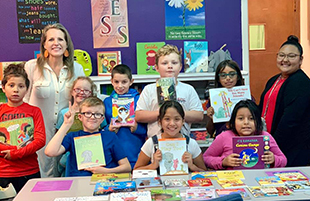 Maedgen Lions Receive Book Donation