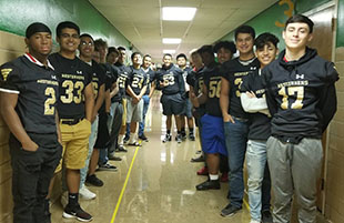 Lubbock High Varsity Football Reading Buddies