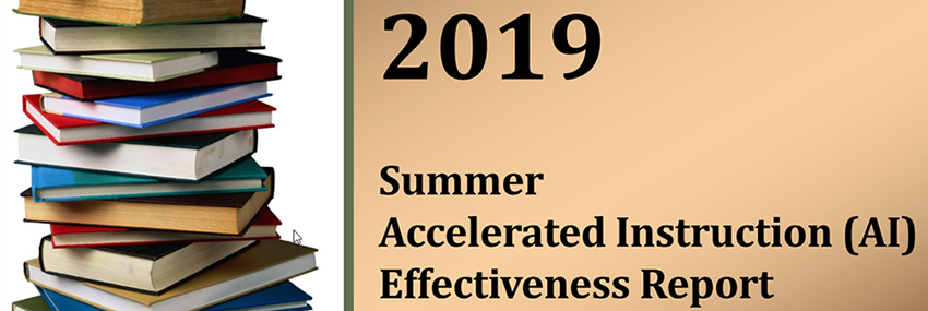 2019 Summer Accelerated Instruction (AI) Effectiveness Report