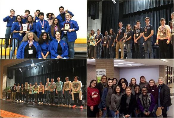 Four academic decathlon teams advance to state meet