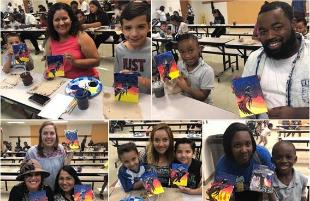 Alderson ES Families Participate in Painting with Pizazz
