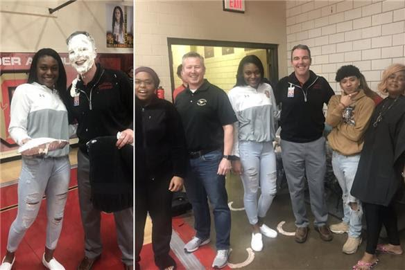 Principals get pie in the face for Communities in Schools