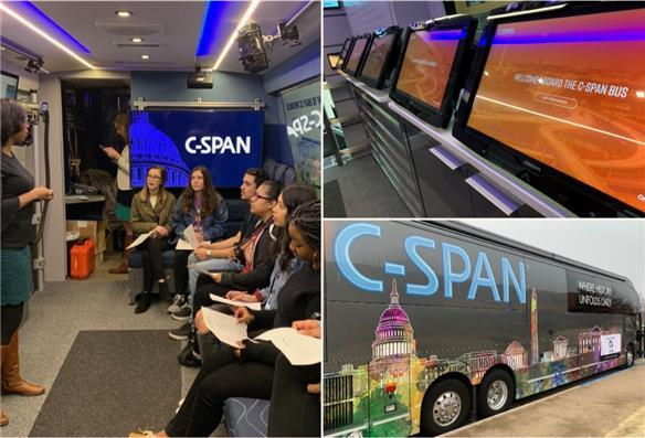 C-SPAN Bus makes a stop at Monterey High School