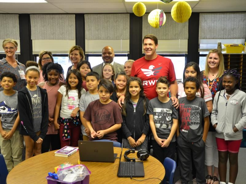 U.S. Representative Jodey Arrington visited Bayless Elementary School on Wednesday to learn about technology in the classroom
