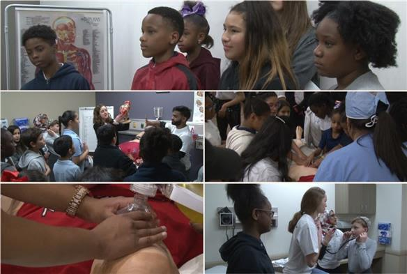 "Ervin ES students become ""Doctors for a Day"""