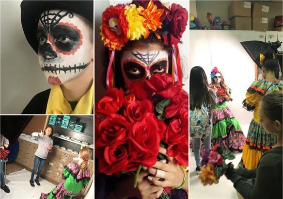 Art and theater work together for Día de los Muertos photoshoot