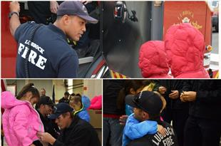 Lubbock Firefighters Distribute Coats to Dupre ES Students
