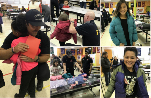 Firefighters Donate Coats to Lubbock ISD Elementary Students