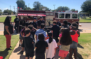 Guadalupe Students Learn Fire Safety