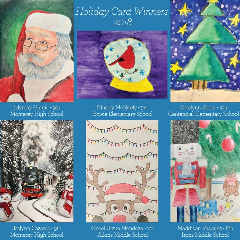 2018 Holiday Card Winners