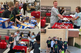 Hutchinson Middle School Students Volunteer for F2K Program