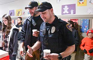 Atkins Middle School Treats Lubbock Police Department