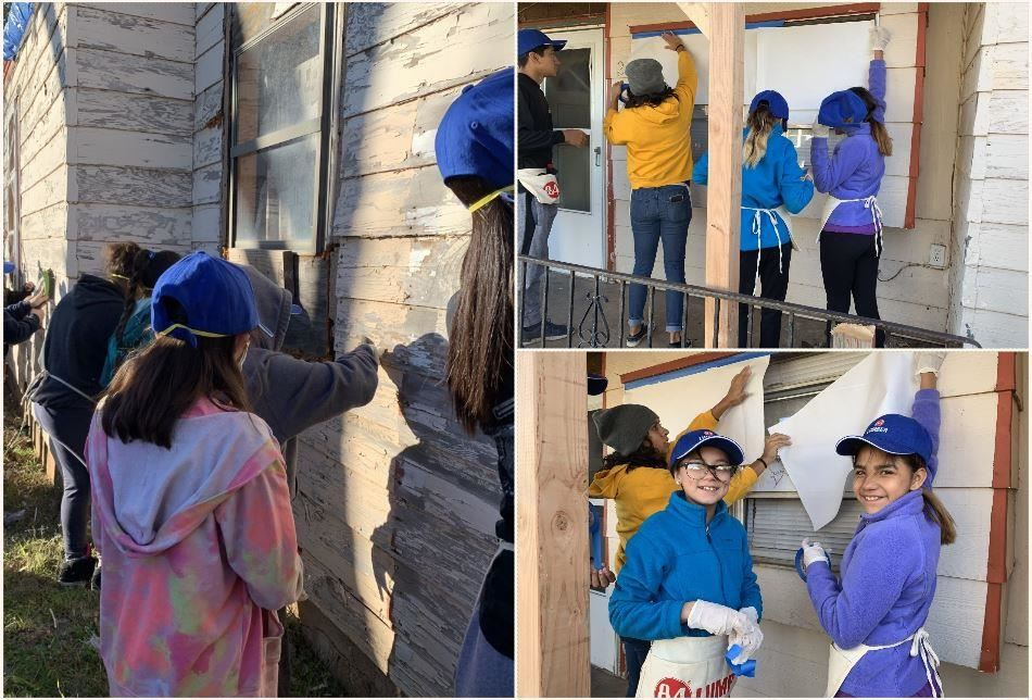 McWhorter ES students volunteer for family in need