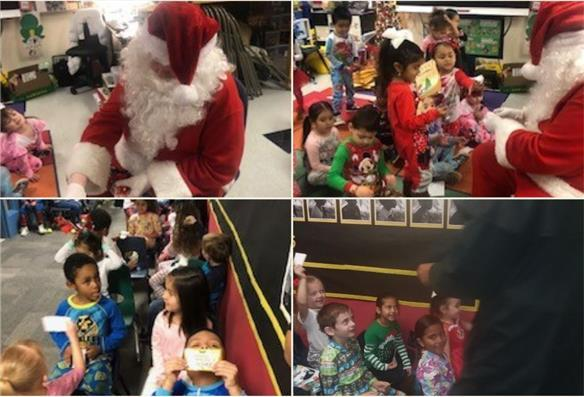 Parsons ES students experience a ride on The Polar Express