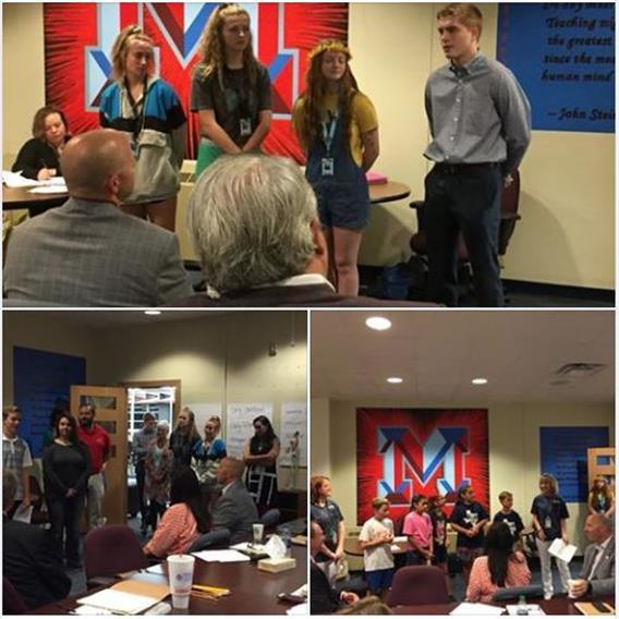 Project Lead The Way students present at board meeting