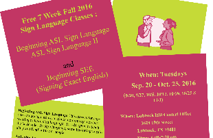 Sign Language Classes