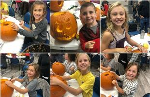Roscoe Wilson ES Families Carve up Some Halloween Fun