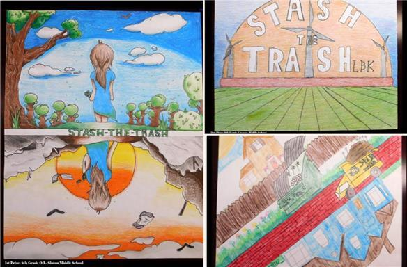 Lubbock ISD students dominate Stash the Trash art contest