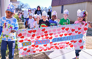 Stewart Elementary School Celebrated the 100th Day of School