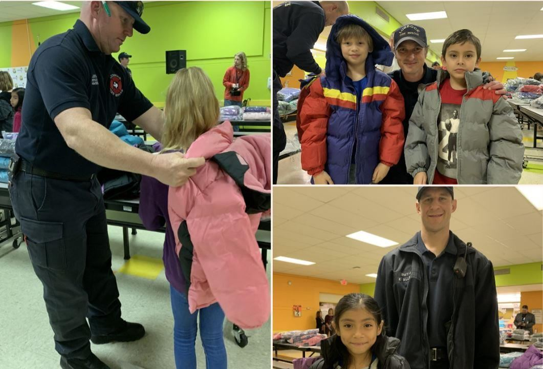 Firefighters donate more coats to Lubbock ISD elementary students