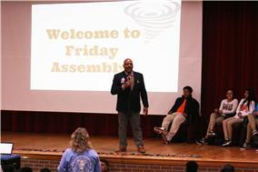 Trustee Stubblefield participates in anti-bullying assembly