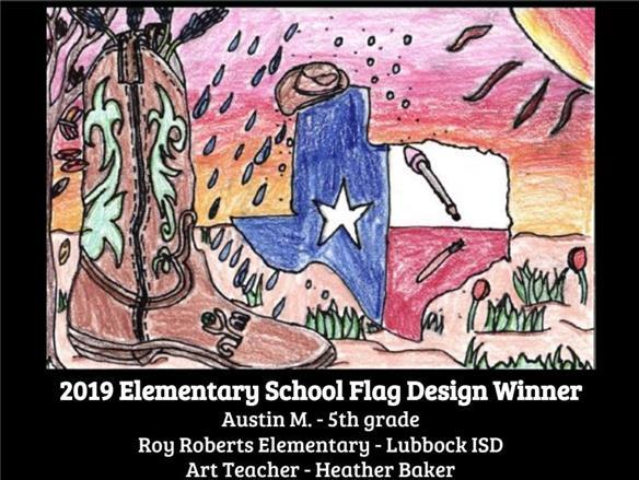 Roberts ES student wins TAEA flag design contest