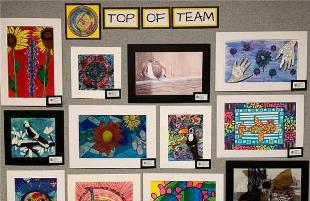 Fifteen Lubbock ISD Top of Team Winners  Recognized for Artwork