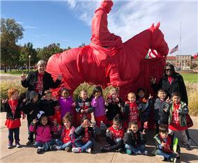 Waters ES pre-K students visit Texas Tech campus
