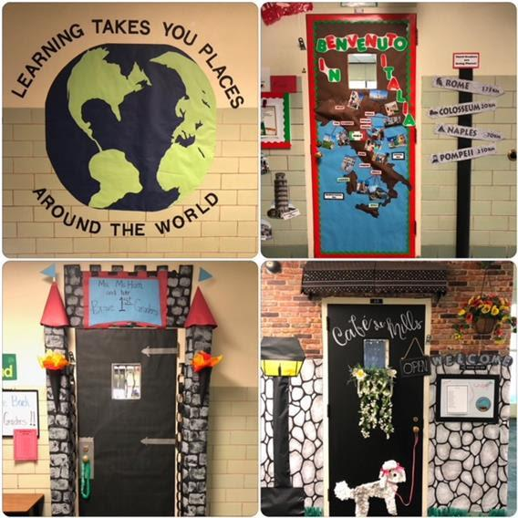 Wheelock Hosts door decorating contest