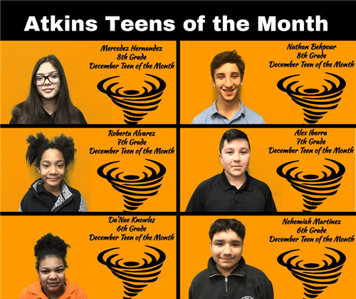 December Teens of the Month