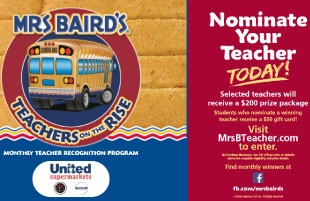 Nominate your teacher today! Selected teachers get $200 gift card & you could get a $50 gift card!