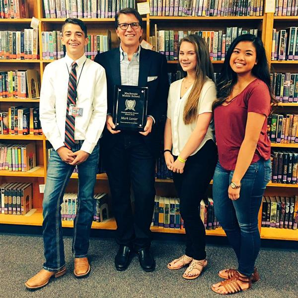 Mark Lanier and Mackenzie Honor Students