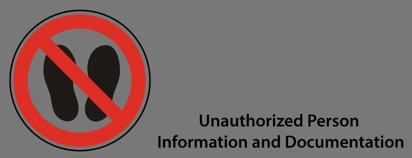 Unauthorized Persons Header