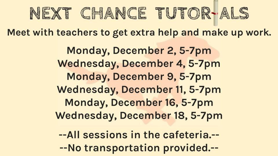 Next Chance Tutorials - December 2019