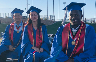 Three of the first Estacado Early College Graduates