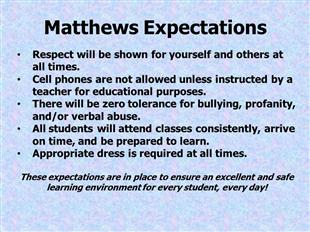 Matthew's Expectations