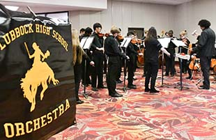Orchestra Performs for City of Lubbock Holiday Reception