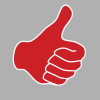 Thumbs up red